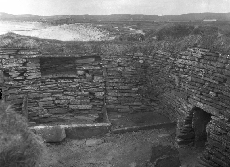 Excavation Photograph: House 1, door and right hand bed. pl.ii.1.