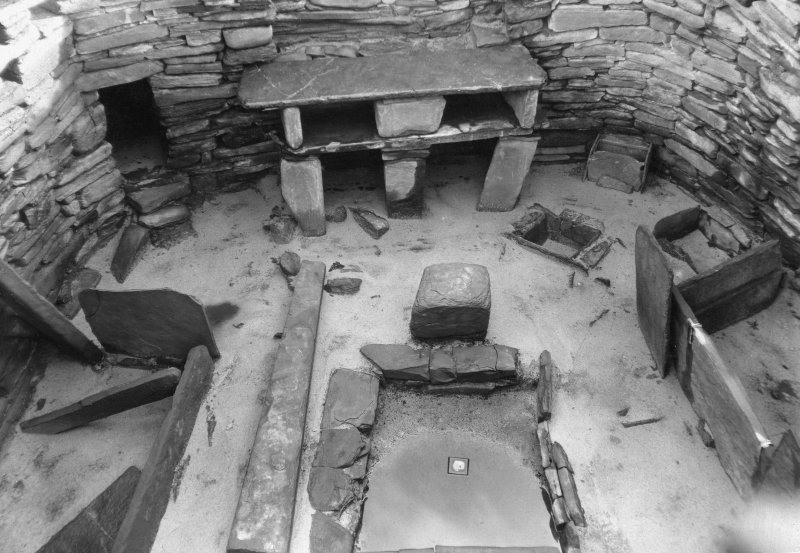 House 7; interior of Skara Brae