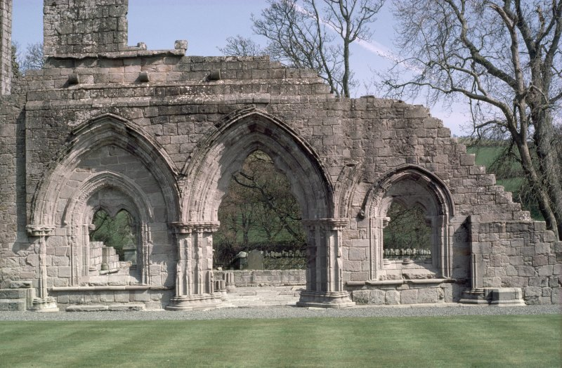 Detail of side elevation, Dundrennan Abbey.