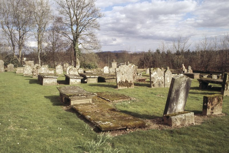 General view of burial ground, Aboyne Old Parish Church.