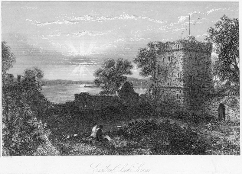 General view of Lochleven Castle.