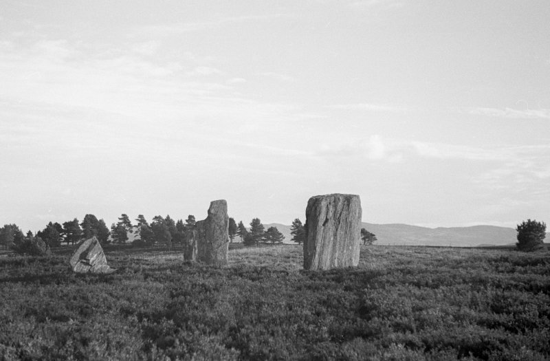 Clachan An Diridh, four poster stone circle, from the north west.