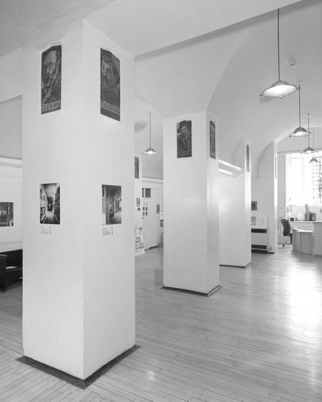 Interior view of Glasgow School of Art showing ground floor entrance hall from SE.