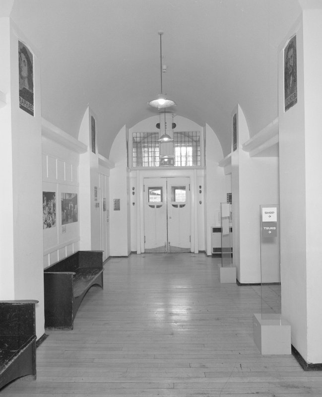 Interior view of Glasgow School of Art showing ground floor entrance hall from S.