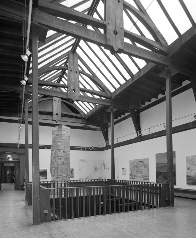 Interior view of Glasgow School of Art showing first floor exhibition area from NW.