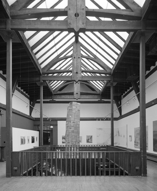 Interior view of Glasgow School of Art showing first floor exhibition area from W.