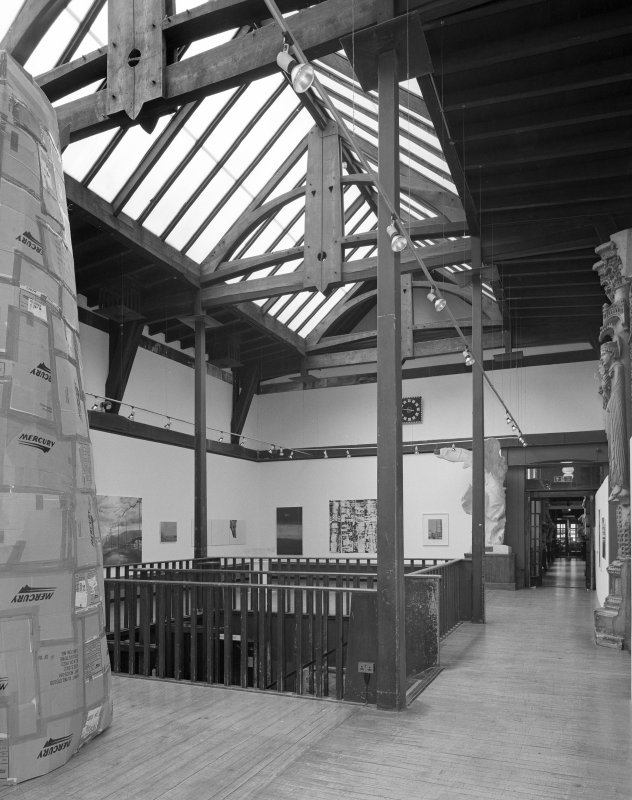 Interior view of Glasgow School of Art showing first floor exhibition area from NE.