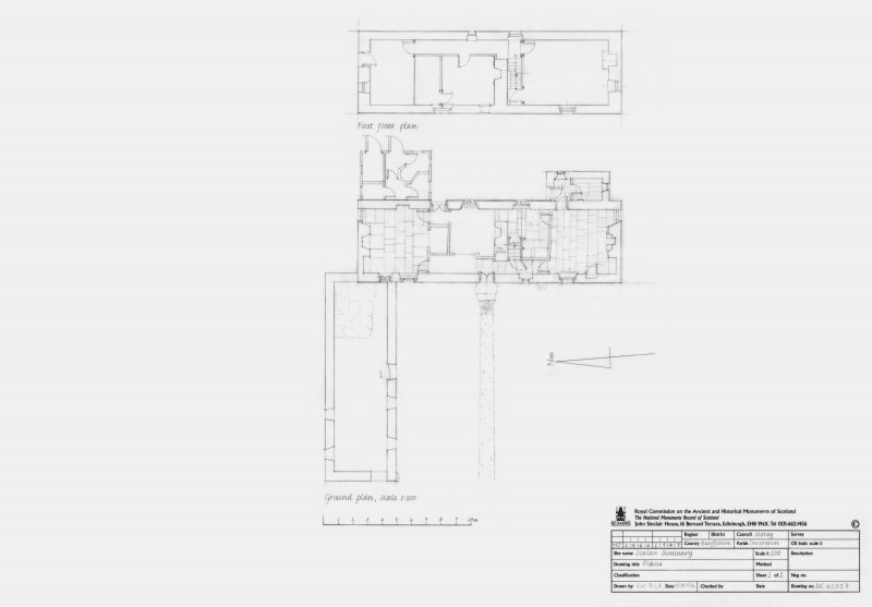 Scalan Seminary: ground and first floor plans