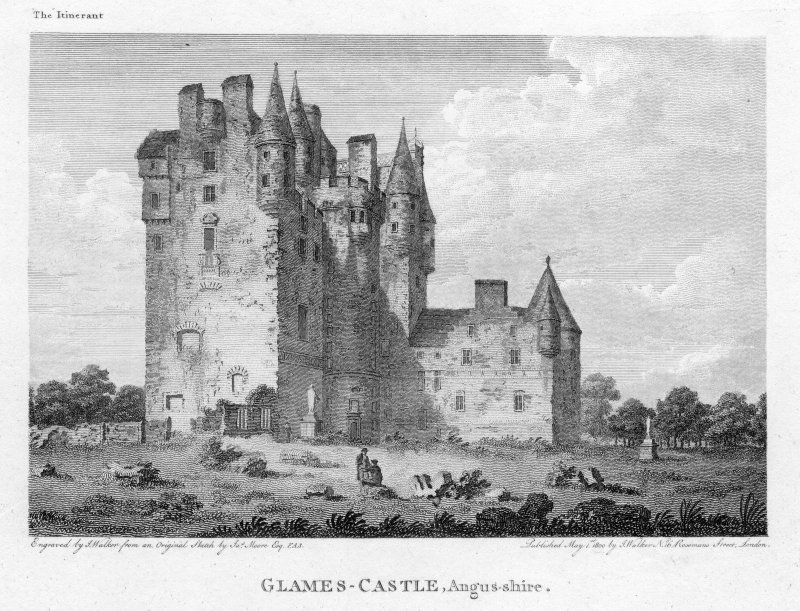 View of Glamis Castle.