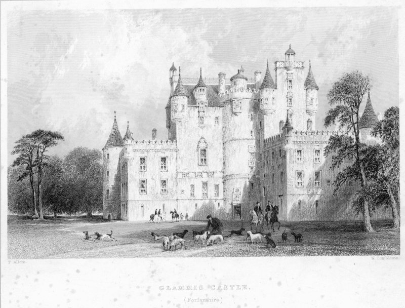 General view of Glamis Castle.