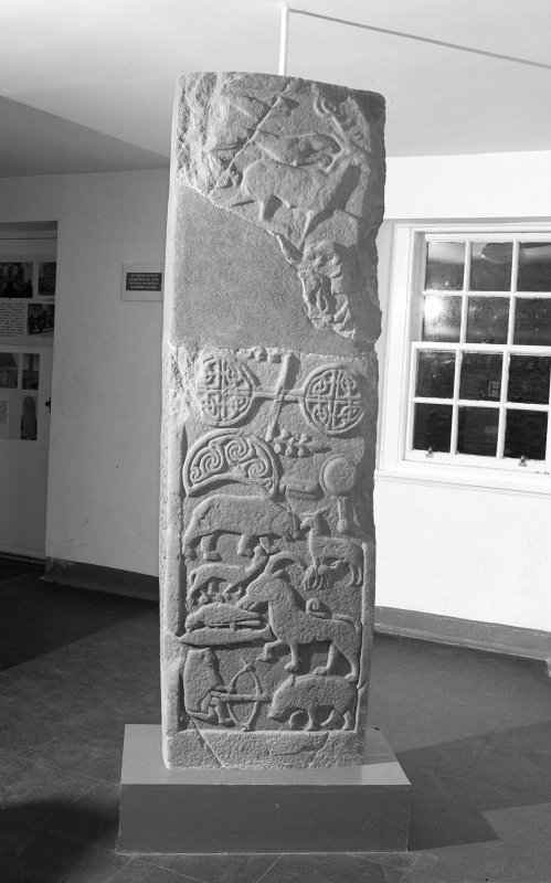 View of reverse of the Drosten Stone Pictish cross-slab (St Vigeans no. 1).