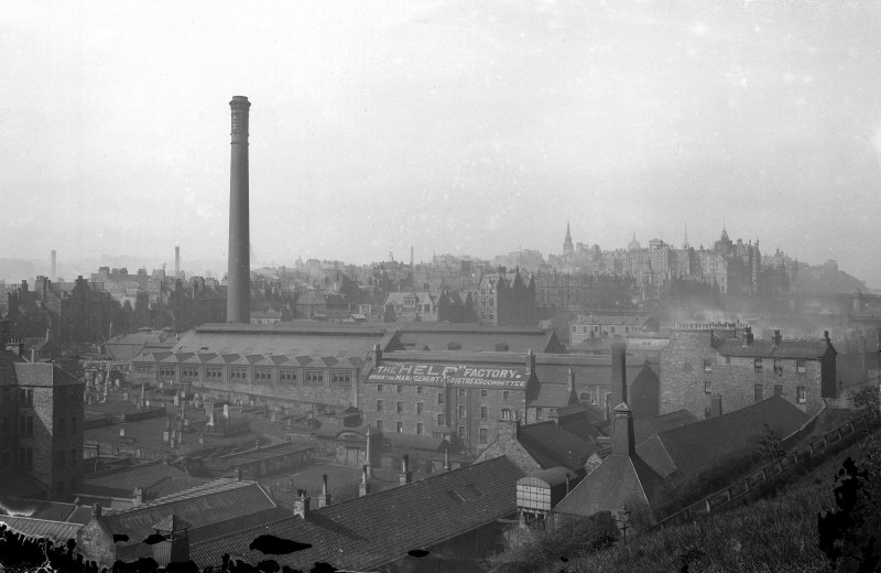 View of New Street Gasworks, Edinburgh.