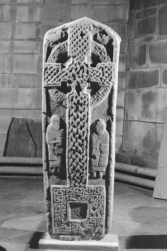 View of face of the Aldbar cross slab in Brechin Cathedral.