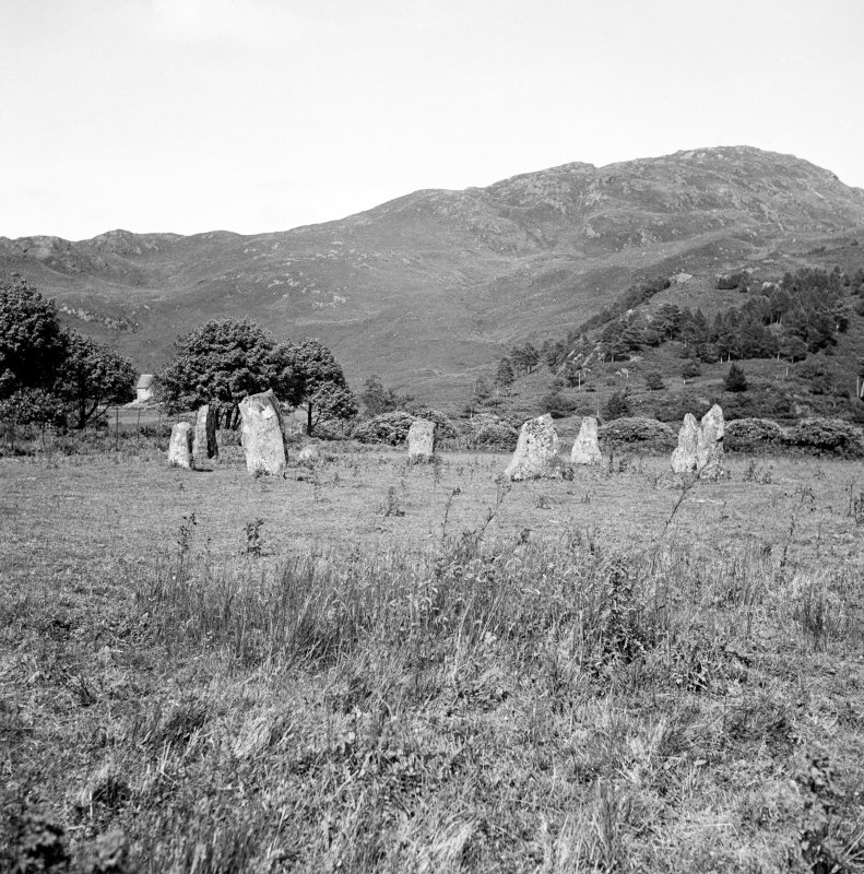 General view of the stone circle at Lochbuie, taken from the SW.