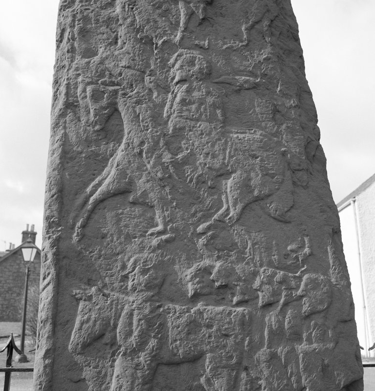Back detail of Fowlis Wester Pictish cross slab.