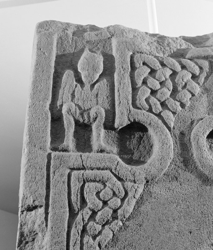 Detail of face of the Drosten Stone Pictish cross slab (St Vigeans no.1).