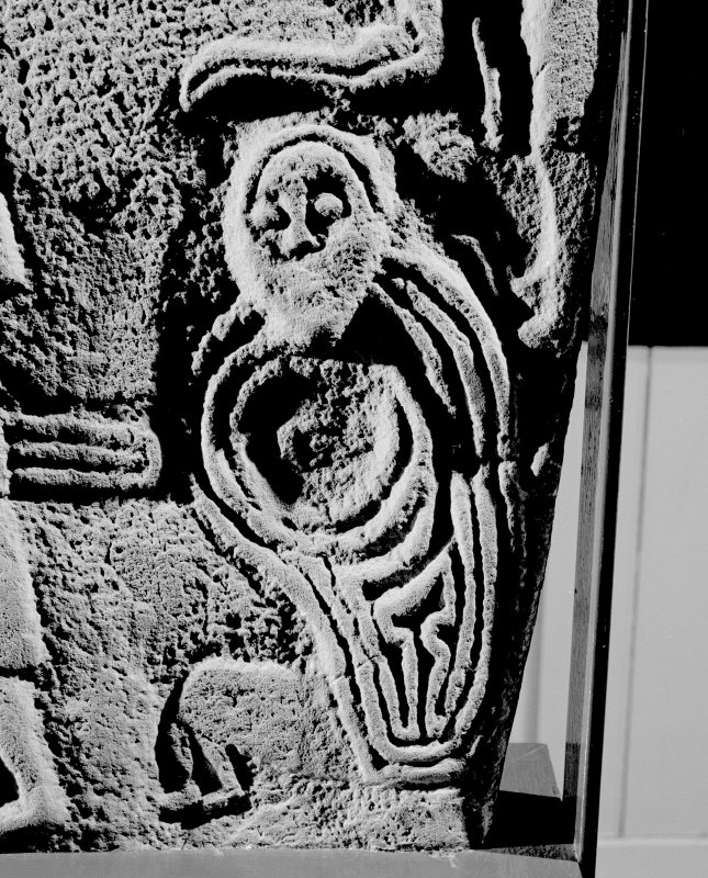 Back detail of Inchbraoch Pictish cross slab.