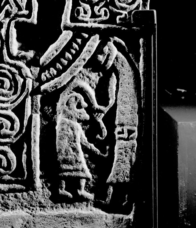 Front detail of Inchbraoch Pictish cross slab.