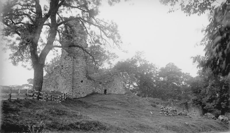 General view of Lochwood Tower from SE.
