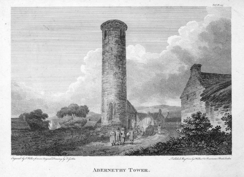 View of Aberneth Round Tower.