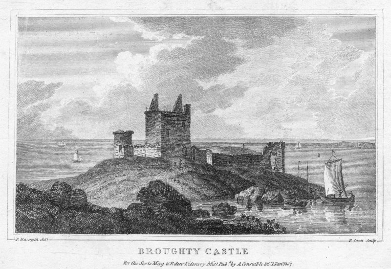 General view of Broughty Castle, Dundee.