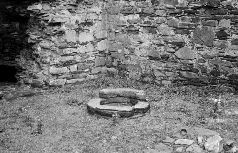 Castle Sween, interior. General view of well.