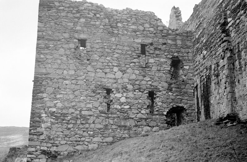 Castle Sween. View of North extension from West.