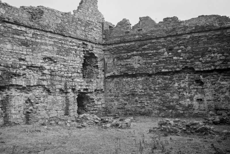 Castle Sween, interior. View across court from West.
