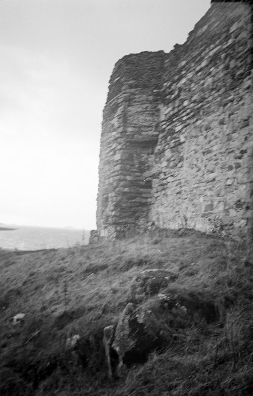Castle Sween. View of East tower from North-West.