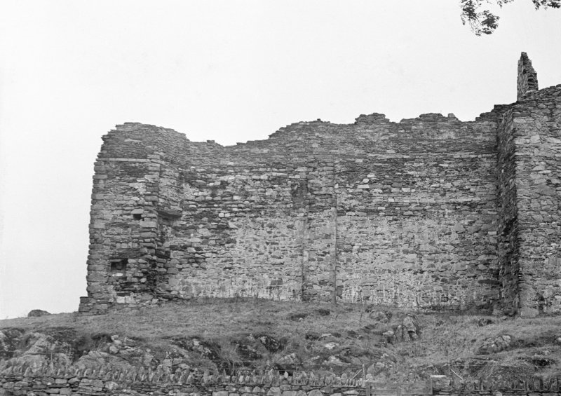 Castle Sween. View of South-West section.