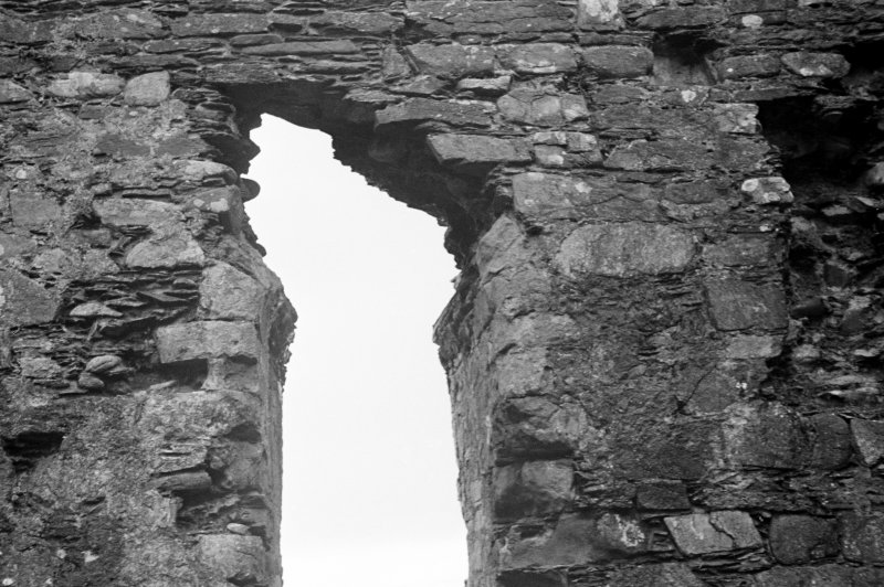 Castle Sween, interior. Detail of head of door leading North-West out of court.