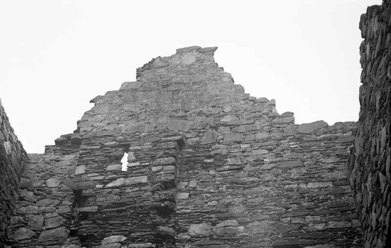 Castle Sween, interior. View of window looking into North extension.