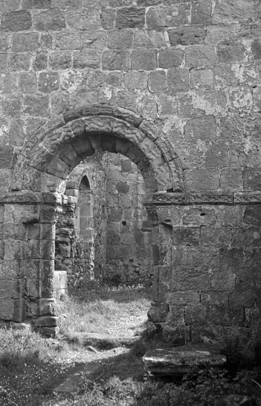 St Blane's. View of Chancel arch from West.
