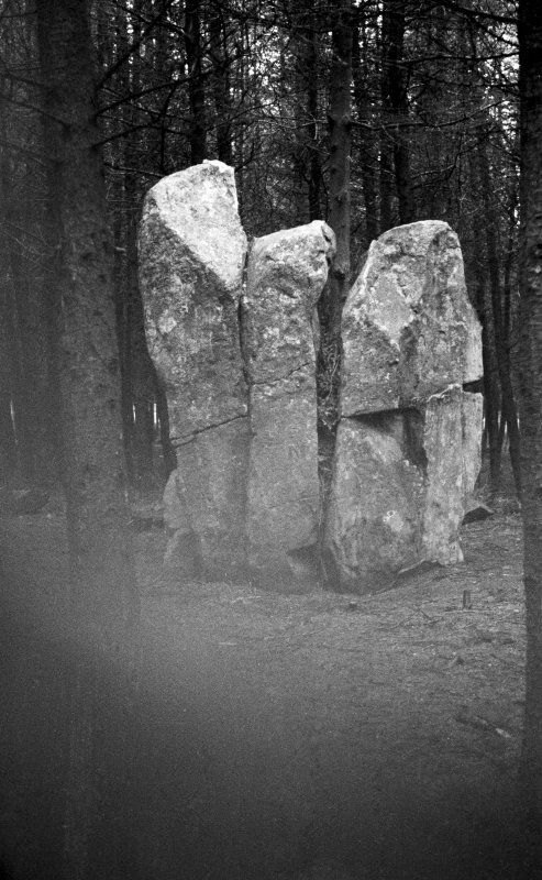 Kingarth standing stones. Central stone from W.