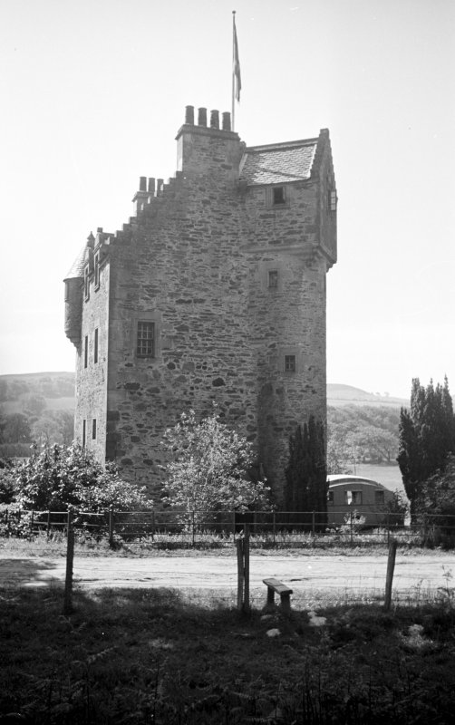 Wester Kames Castle. General view from N.