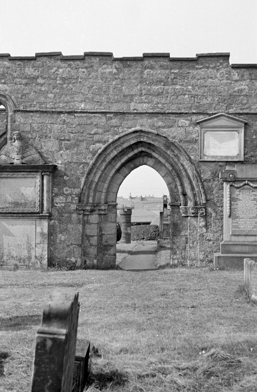 St Kentigern's Church. View of South door of nave.