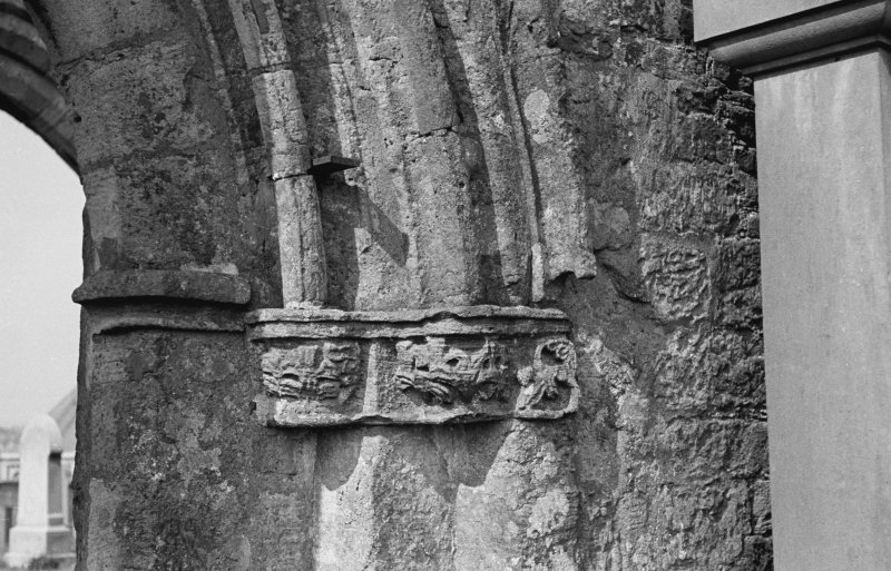 St Kentigern's Church. Detail of East capital of nave.