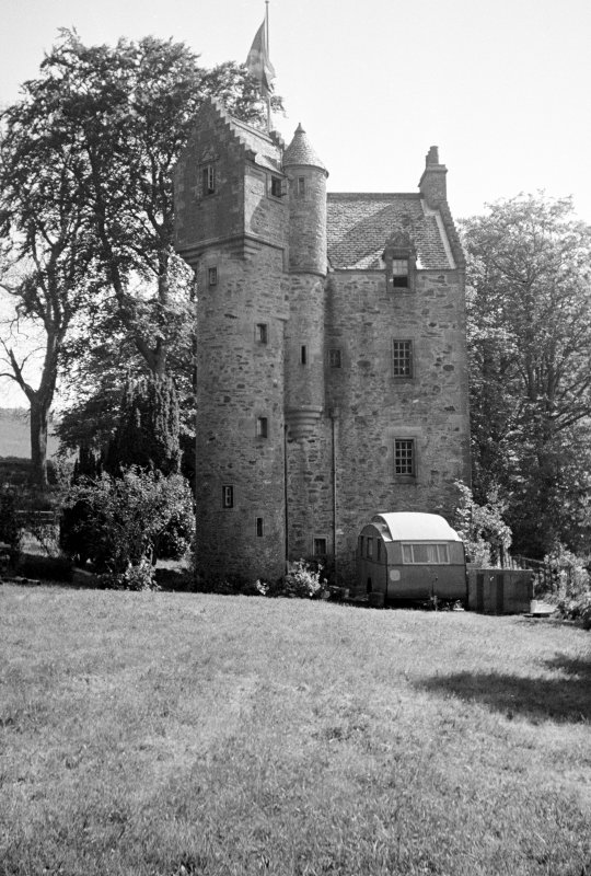 Bute, West Kames Castle. General view from West.