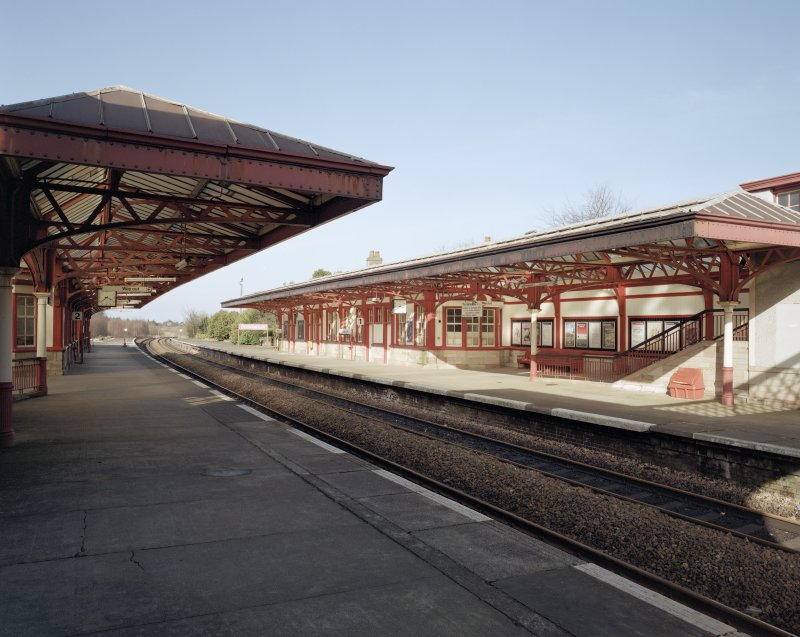 Gleneagles Station. View of platform from South-West.