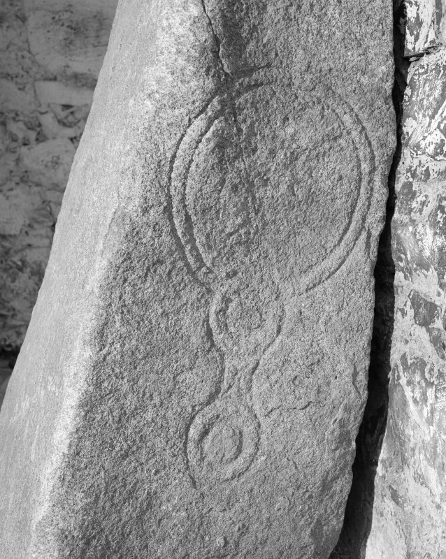 Detail of west face of Lindores Stone, Abdie Churchyard.
