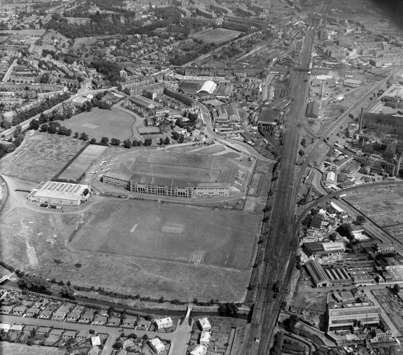 Murrayfield Edinburgh, Midlothian, Scotland. Oblique aerial photograph taken facing North/East.