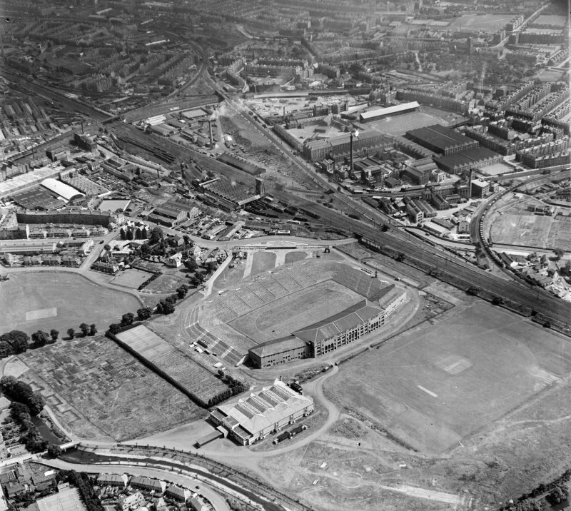 Murrayfield Edinburgh, Midlothian, Scotland. Oblique aerial photograph taken facing East.