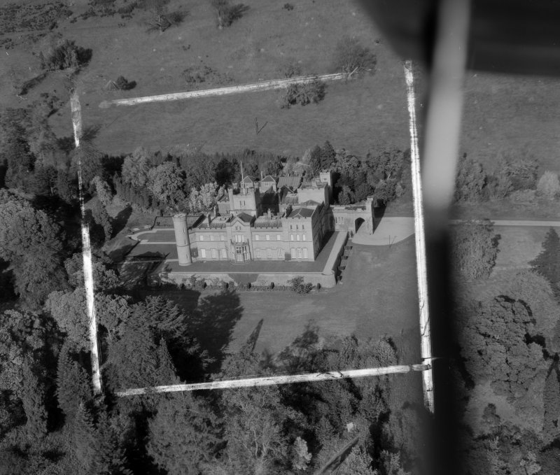 Co-operative Holiday Home, Kinfauns Castle Kinfauns, Perthshire, Scotland. Oblique aerial photograph taken facing North. This image was marked by AeroPictorial Ltd for photo editing.