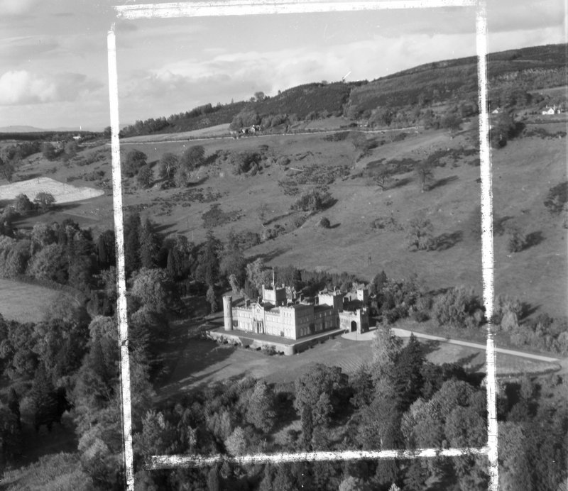 Co-operative Holiday Home, Kinfauns Castle Kinfauns, Perthshire, Scotland. Oblique aerial photograph taken facing North/West. This image was marked by AeroPictorial Ltd for photo editing.