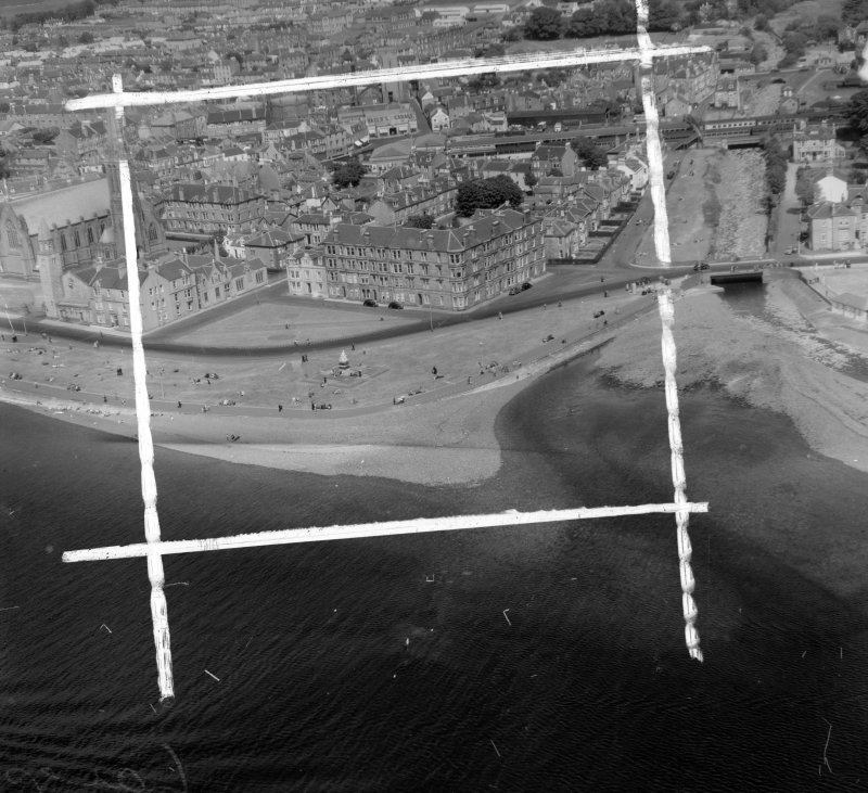 General view Largs, Ayrshire, Scotland. Oblique aerial photograph taken facing North/East. This image was marked by AeroPictorial Ltd for photo editing.