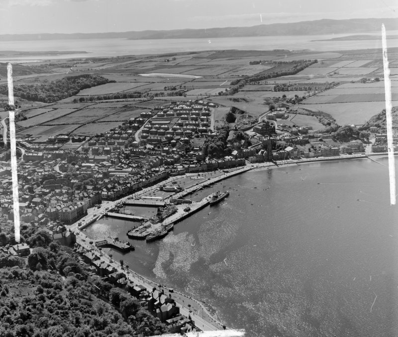General View Rothesay, Bute, Scotland. Oblique aerial photograph taken facing West. This image was marked by AeroPictorial Ltd for photo editing.