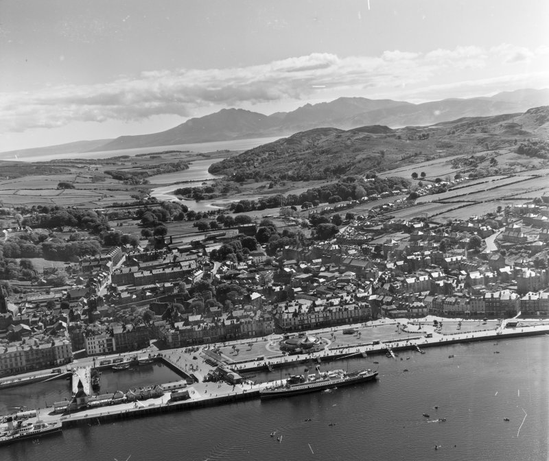 General View Rothesay, Bute, Scotland. Oblique aerial photograph taken facing South.