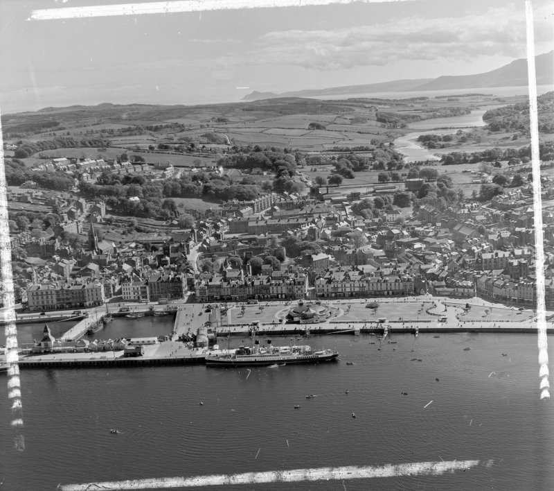 General View Rothesay, Bute, Scotland. Oblique aerial photograph taken facing South. This image was marked by AeroPictorial Ltd for photo editing.