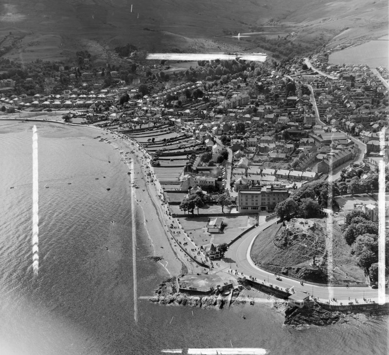 McColl's Hotel Dunoon and Kilmun, Argyll, Scotland. Oblique aerial photograph taken facing North/West. This image was marked by AeroPictorial Ltd for photo editing.