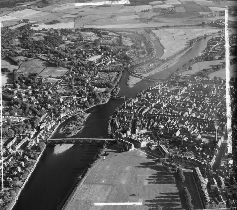 General View Kinnoull, Perthshire, Scotland. Oblique aerial photograph taken facing South. This image was marked by AeroPictorial Ltd for photo editing.